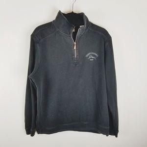 Tommy Bahama black half zip sweater jacket XL